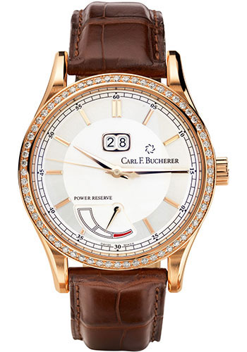 Carl F. Bucherer Watches - Manero BigDate Power Rose Gold - Style No: 00.10905.03.13.11