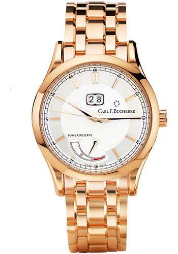 Carl F. Bucherer Watches - Manero BigDate Power Rose Gold - Style No: 00.10905.03.13.21