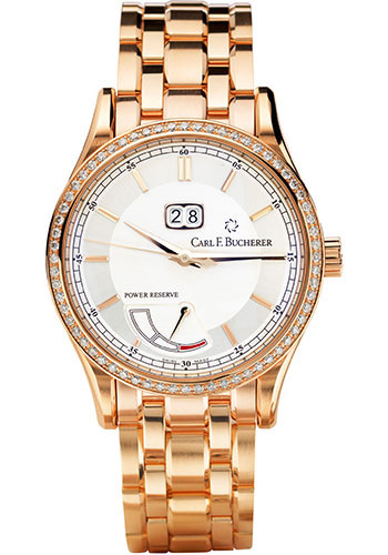 Carl F. Bucherer Watches - Manero BigDate Power Rose Gold - Style No: 00.10905.03.13.31