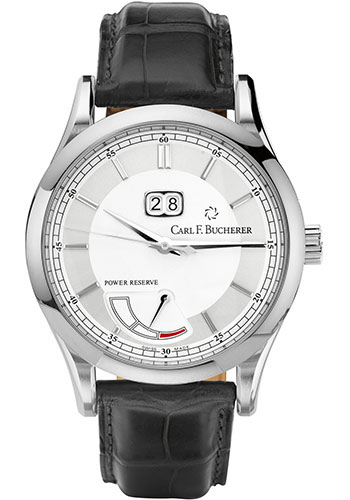 Carl F. Bucherer Watches - Manero BigDate Power Stainless Steel - Style No: 00.10905.08.13.01