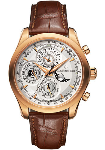 Carl F. Bucherer Watches - Manero ChronoPerpetual Rose Gold - Style No: 00.10906.03.13.01