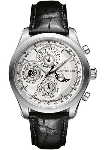 Carl F. Bucherer Watches - Manero ChronoPerpetual Stainless Steel - Style No: 00.10906.08.13.01