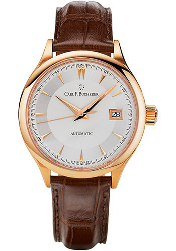 Carl F. Bucherer Watches - Manero AutoDate 38mm - Rose Gold - Style No: 00.10908.03.13.01