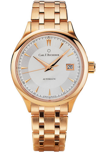 Carl F. Bucherer Watches - Manero AutoDate 38mm - Rose Gold - Style No: 00.10908.03.13.21