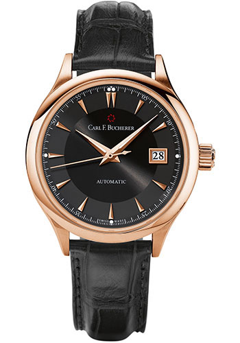 Carl F. Bucherer Watches - Manero AutoDate 38mm - Rose Gold - Style No: 00.10908.03.33.01