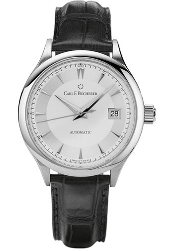 Carl F. Bucherer Watches - Manero AutoDate 38mm - Stainless Steel - Style No: 00.10908.08.13.01