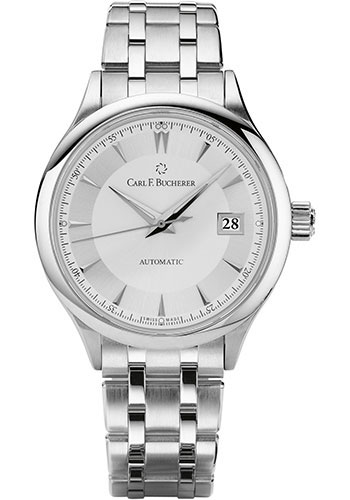 Carl F. Bucherer Watches - Manero AutoDate 38mm - Stainless Steel - Style No: 00.10908.08.13.21
