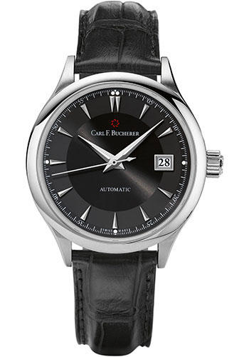 Carl F. Bucherer Watches - Manero AutoDate 38mm - Stainless Steel - Style No: 00.10908.08.33.01