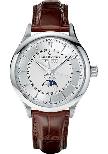 Carl F. Bucherer Watches - Manero MoonPhase White Gold - Style No: 00.10909.02.13.01
