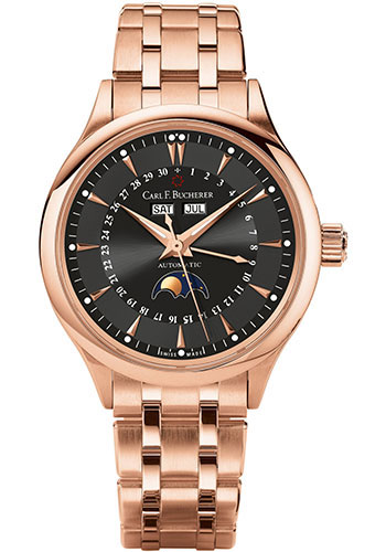 Carl F. Bucherer Watches - Manero MoonPhase Rose Gold - Style No: 00.10909.03.33.21