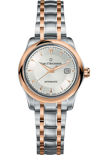 Carl F. Bucherer Watches - Manero AutoDate 30mm - Stainless Steel and Rose Gold - Style No: 00.10911.07.13.21