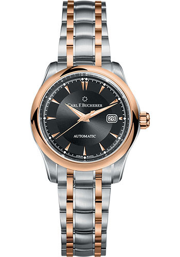 Carl F. Bucherer Watches - Manero AutoDate 30mm - Stainless Steel and Rose Gold - Style No: 00.10911.07.33.21