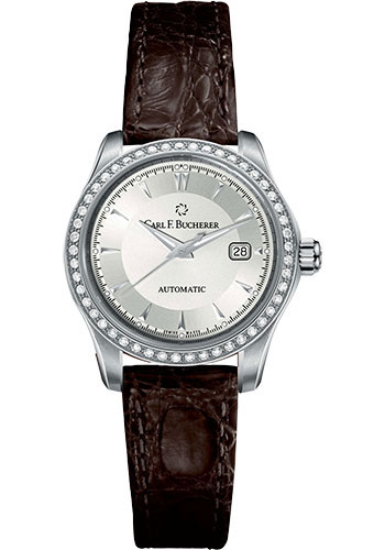 Carl F. Bucherer Watches - Manero AutoDate 30mm - Stainless Steel - Style No: 00.10911.08.13.11