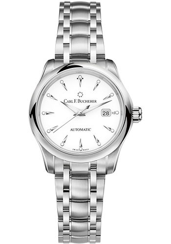 Carl F. Bucherer Watches - Manero AutoDate 30mm - Stainless Steel - Style No: 00.10911.08.23.21