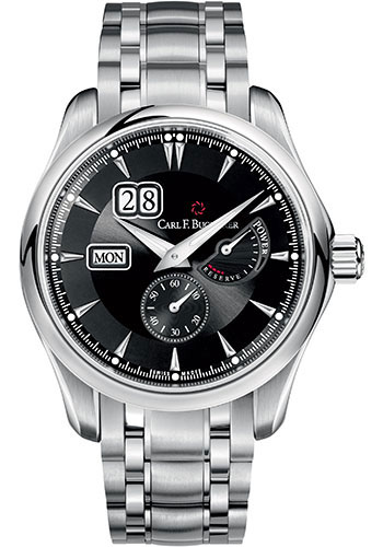 Carl F. Bucherer Watches - Manero PowerReserve Stainless Steel - Style No: 00.10912.08.33.21