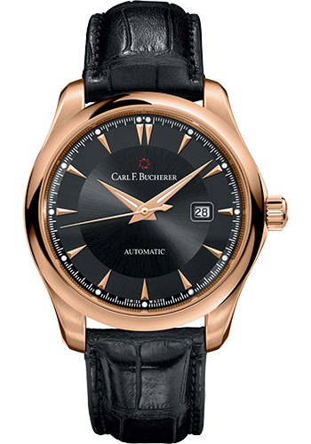 Carl F. Bucherer Watches - Manero AutoDate 42mm - Rose Gold - Style No: 00.10915.03.33.01