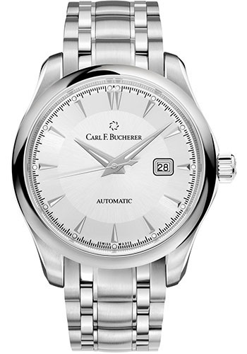 Carl F. Bucherer Watches - Manero AutoDate 42mm - Stainless Steel - Style No: 00.10915.08.13.21