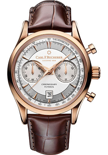 Carl F. Bucherer Watches - Manero Flyback Rose Gold - Style No: 00.10919.03.13.01