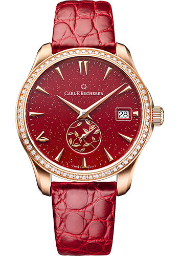 Carl F. Bucherer Watches - Manero AutoDate LOVE Rose Gold - Style No: 00.10922.03.93.11