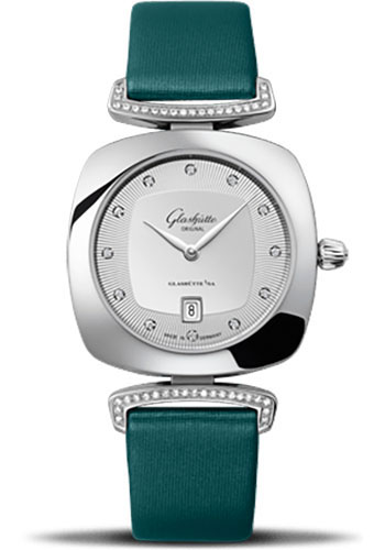 Glashutte Original Watches - Ladies Collection Pavonina Steel - Silver - Style No: 03-01-10-12-02