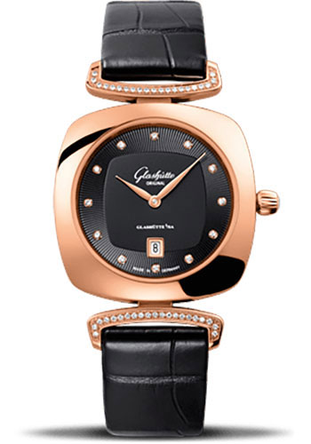 Glashutte Original Watches - Ladies Collection Pavonina Red Gold - Black - Style No: 03-01-28-05-02