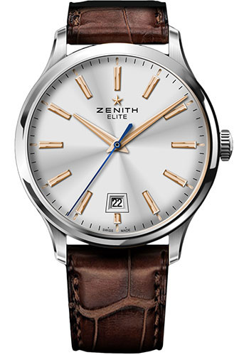 Zenith Watches - Captain Central Second Stainless Steel - Style No: 03.2020.670/01.C498