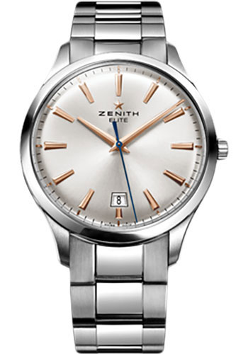 Zenith Watches - Captain Central Second Stainless Steel - Style No: 03.2020.670/01.M2020