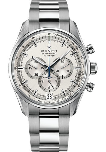 Zenith Watches - El Primero 36'000 VPH Stainless Steel - Style No: 03.2040.400/04.M2040