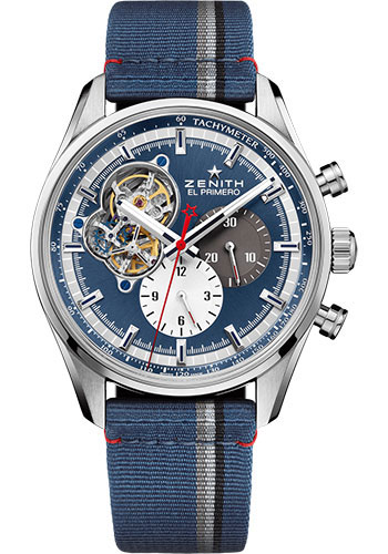 Zenith Watches - Chronomaster El Primero Open Steel - Fabric Strap - Style No: 03.2040.4061/52.C802