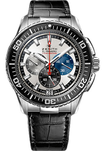 Zenith Watches - El Primero Stratos Flyback Striking 10th Stainless Steel - Style No: 03.2060.4057/69.C714
