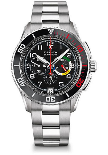 Zenith Watches - El Primero Stratos Flyback Stainless Steel - Style No: 03.2061.405/21.M2060