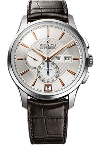 Zenith Watches - Captain Winsor Stainless Steel - Style No: 03.2070.4054/02.C711