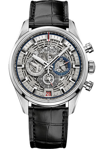 Zenith Watches - Chronomaster El Primero Full Open Steel - Alligator Strap - Style No: 03.2081.400/78.C813