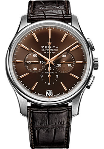 Zenith Watches - Captain Chronograph Stainless Steel - Style No: 03.2110.400/75.C498