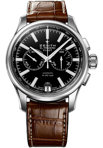 Zenith Watches - El Primero Pilot Chronograph Stainless Steel - Style No: 03.2117.4002/23.C704