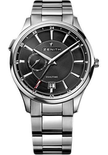 Zenith Watches - Captain Dual Time Stainless Steel - Style No: 03.2130.682/22.M2130