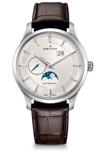Zenith Watches - Captain Moonphase Stainless Steel - Style No: 03.2143.691/01.C498