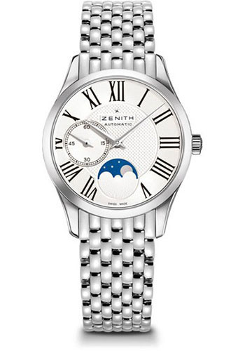 Zenith Watches - Captain Ultra Thin Lady Moonphase Stainless Steel - Style No: 03.2310.692/02.M2310