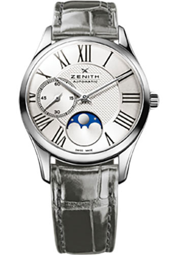 Zenith Watches - Elite Lady Ultra Thin Moonphase Stainless Steel - Style No: 03.2310.692/02.C706