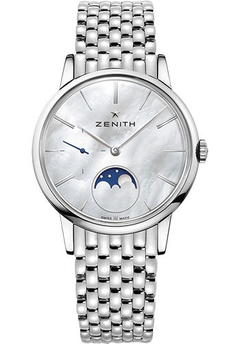 Zenith Watches - Elite Lady Moonphase 36 mm - Steel - Bracelet - Style No: 03.2320.692/80.M2320
