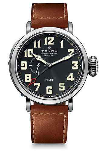 Zenith Watches - Pilot Montre D'Aeronef Type 20 GMT - Style No: 03.2430.693/21.C723