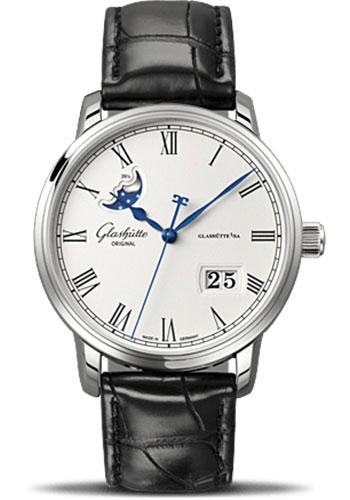 Glashutte Original Watches - Quintessentials Senator Panorama Date Moon Phase - Style No: 100-04-32-12-04