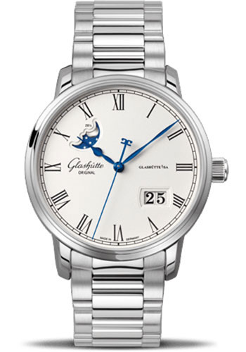 Glashutte Original Watches - Quintessentials Senator Panorama Date Moon Phase - Style No: 100-04-32-12-14