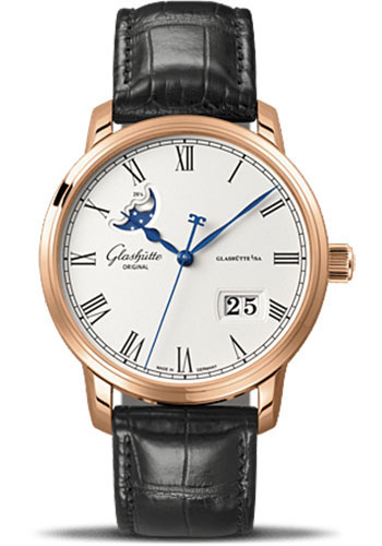 Glashutte Original Watches - Quintessentials Senator Panorama Date Moon Phase - Style No: 100-04-32-15-04
