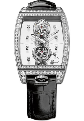 Corum Watches - Golden Bridge Tourbillon Panoramique White Gold - Style No: 100.161.69/0F01 0000