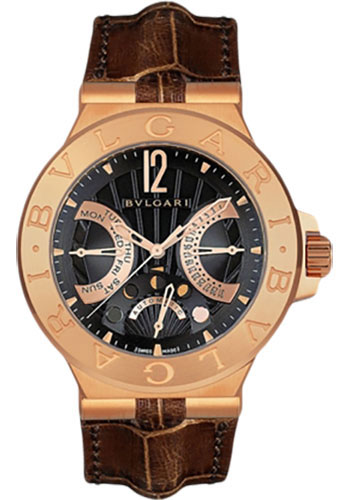 Bulgari Watches - Diagono 42 mm - Pink Gold - Style No: 101679 DGP42BGLDMP