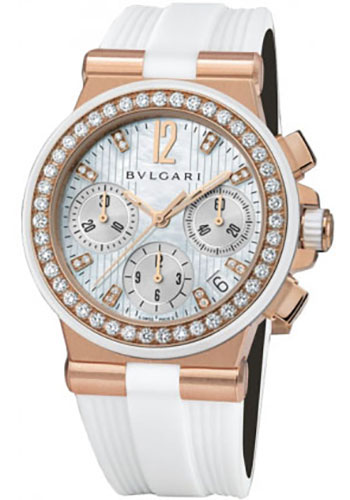 Bulgari Watches - Diagono 35 mm - Pink Gold - Style No: 101753 DGP35WGDWVDCH/8