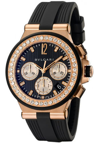 Bulgari Watches - Diagono 40 mm - Pink Gold - Style No: 101754 DGP40BGDVDCH/8