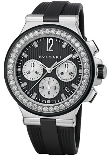 Bulgari Watches - Diagono 40 mm - Stainless Steel - Style No: 101756 DG40BSDVDCH/8