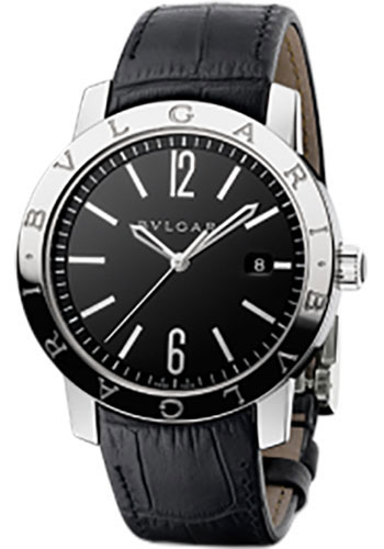 Bulgari Watches - Bulgari Bulgari 41 mm - Stainless Steel - Alligator Strap - Style No: 101867 BB41BSLD